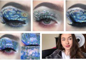 Elle recrée des œuvres d'art avec du maquillage